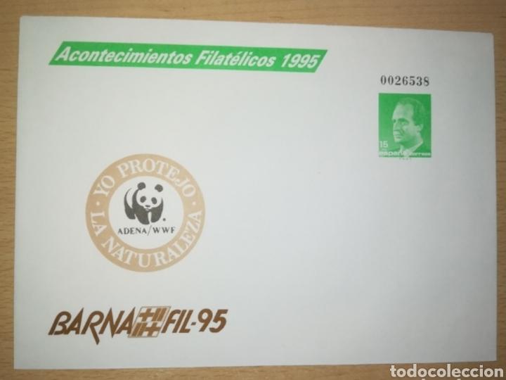 ESPAÑA SPAIN BARNAFIL 95 EDIFIL 27 SOBRE ENTERO POSTAL SEP FAUNA WWF 1995 (Sellos - España - Entero Postales)