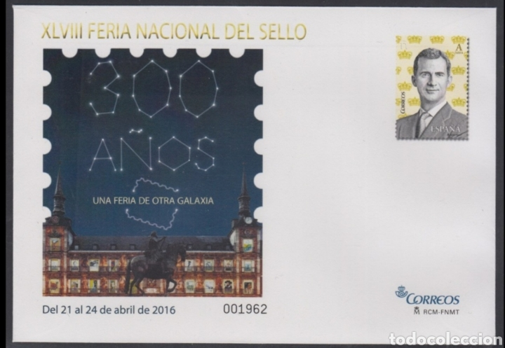 ESPAÑA SPAIN XLVIII FERIA DEL SELLO 2016 EDIFIL 145 SOBRE ENTERO POSTAL SEP (Sellos - España - Entero Postales)