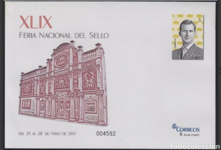 ESPAÑA SPAIN XLIX FERIA DEL SELLO 2017 EDIFIL 147 SOBRE ENTERO POSTAL SEP (Sellos - España - Entero Postales)