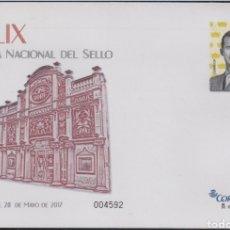 Stamps - ESPAÑA SPAIN XLIX FERIA DEL SELLO 2017 EDIFIL 147 SOBRE ENTERO POSTAL SEP - 160587252