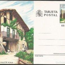 Sellos: ESPAÑA 1989 - ES P148 - TARJETA ENTERO POSTAL - ALAVA. Lote 162972082