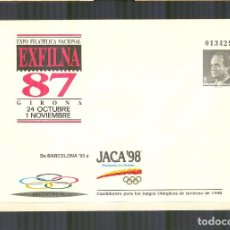 Sellos - SEP 10A ENTERO POSTAL EXFILNA 87 SOBREIMPRESION JACA 98 JJ.OO. BUEN ESTADO - 163767638