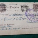 Sellos: TARJETA ENTERO POSTAL, CENSURA MILITAR DE MADRID A VALLADOLID. T. CORONEL DEL E. MAYOR. Lote 165410026