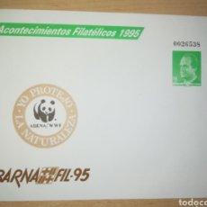 Stamps - ESPAÑA SPAIN BARNAFIL 95 EDIFIL 27 SOBRE ENTERO POSTAL SEP FAUNA WWF 1995 - 167599497