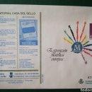 Sellos: ESPAÑA SOBRE ENTERO POSTAL ANUNCIADOR SOBREIMPRESIÓN CASA DEL SELLO FILATELIA 1993 ANGEL LAIZ 17C. Lote 168373770