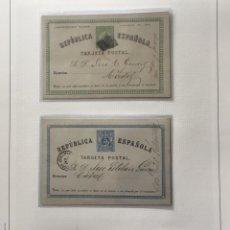 Sellos: 1873/1960-ESPAÑA LOTE DE 26 ENTEROS POSTALES MONTADOS EN HOJAS DE ÁLBUM . Lote 168470940