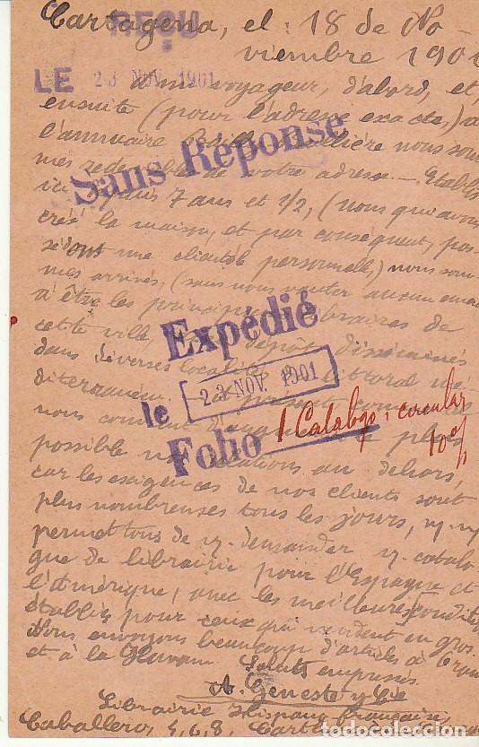Sellos: ETP: o 37. ALFONSO XIII. CARTAGENA a PARIS. 1917 - Foto 2 - 169743488
