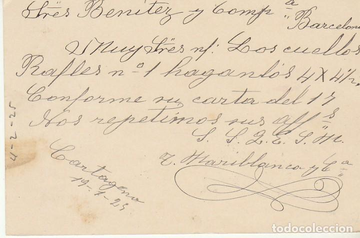 Sellos: ETP : o 50 . ALFONSO XIII- MEDALLÖN. CARTAGENA a BARCELONA. 1925 - Foto 2 - 169746556
