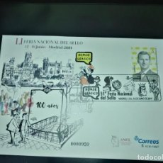 Sellos: SOBRE ENTERO POSTAL DEL CORREO CENTENARIO PALACIO Y METRO MADRID USADO 2019. Lote 170019108