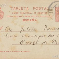 Sellos: E.P.: O 53. ALFONSO XIII. BARCELONA A CANET DE MAR . 1920.. Lote 171195088