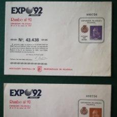 Sellos: ESPAÑA SOBRE ENTERO POSTAL SOBREIMPRESIÓN PRIVADA APF LOTERÍA NACIONAL 1986 CATÁLOGO LAIZ 1IP-2IP. Lote 172168747