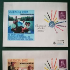 Sellos: ESPAÑA SOBRE ENTERO POSTAL SEP EXPOSICIÓN FILATELIA VALENCIA 2002 SOBREIMPRESIÓN APF EDIFIL 75A-75B. Lote 172169657