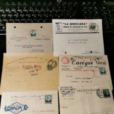 Sellos: LOTE DE TARJETAS POSTALES CON PUBLICIDAD. REPÚBLICA Y ALFONSO XIII. Lote 173875130