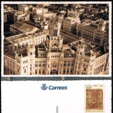 Sellos: LA TARJETA DEL CORREO 28 - 8, PALACIO COMUNICACIONES DE MADRID, SIN USAR. Lote 187307751