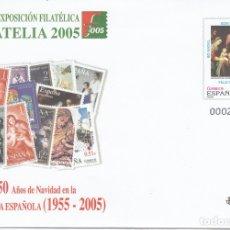 Sellos: SOBRE ENTERO POSTAL NUM. 104 EXPOS. FILATELIA 2005 50 AÑOS NAVIDAD EN LA FILATELIA ESPAÑOLA. Lote 203892598