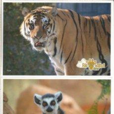 Sellos: ELCHE ALICANTE 2 ENTERO POSTAL RIO SAFARI TARIFAS A Y B LEMUR TIGRE TIGER . Lote 180130581