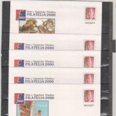 Sellos: ESPAÑA-S. E. POSTAL Nº 67 EX.FILATELIA 2000 MADRID CINCO VERSIONES NUEVOS (SEGÚN FOTO). Lote 182412051