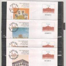 Sellos: ESPAÑA-S. E. POSTAL Nº 79 EXFILNA 2002 SALAMANCA 4 VERSIONES NUEVAS (SEGÚN FOTO). Lote 182413281
