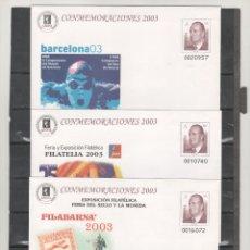 Sellos: ESPAÑA-S. E. POSTAL Nº 87/89 FILABARNA 2003 TRES VERSIONES NUEVAS (SEGÚN FOTO). Lote 182414183