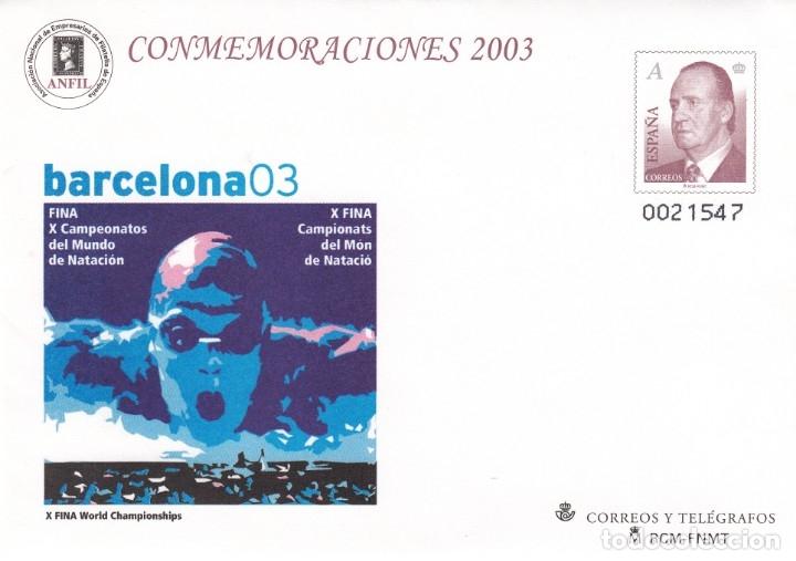 SOBRE ENTERO POSTAL NUM.87 CONMEMORACIONES 2003 CAMP-MUNDO NATACION BARCELONA (Sellos - España - Entero Postales)