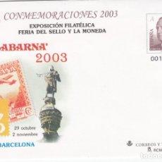 Sellos: SOBRE ENTERO POSTAL NUM. 88 CONMEMORACIONES 2003 - FILABARNA 2003 BARCELONA. Lote 182613112