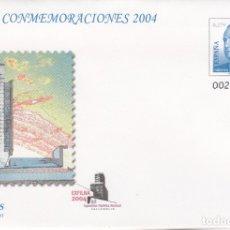 Sellos: SOBRE ENTERO POSTAL NUM. 93 CONMEMORACIONES 2004 - EXFILNA 2004 VALLADOLID. Lote 182613463