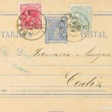 Sellos: ESPAÑA. ENTERO POSTAL. SOBRE EP8, 201, 202. 1880. 5 CTS ULTRAMAR SOBRE TARJETA ENTERO POSTAL CON FR. Lote 183121501