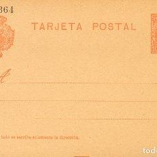 Selos: ESPAÑA. ENTERO POSTAL. (*)EP45, EP46. 1904. 10 CTS NARANJA SOBRE TARJETA ENTERO POSTAL Y 15 CTS+15. Lote 183151641