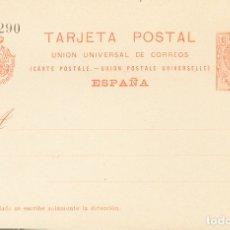 Selos: ESPAÑA. ENTERO POSTAL. (*)EP53, EP54. 1910. 10 CTS NARANJA SOBRE TARJETA ENTERO POSTAL Y 10 CTS+10. Lote 183152985