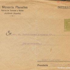 Sellos: ESPAÑA. ENTERO POSTAL PRIVADO. SOBRE EP604. (1925CA). 2 CTS VERDE OLIVA. SOBRE ENTERO POSTAL PRIVAD. Lote 183159326