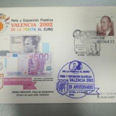 Sellos: SOBRE ENTERO POSTAL VALENCIA 2002 MATASELLADO GOMIGRAFO. Lote 186317171