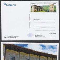 Timbres: LA TARJETA DEL CORREO 80-16, CASONA MONTAÑESA (CANTABRIA), ARQUITECTURA RURAL, SIN USAR. Lote 190276401