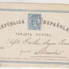 Sellos: E.P.: 0 1 .I REPÚBLICA. TALAVERA DE LA REINA A ALICANTE.. Lote 191354663