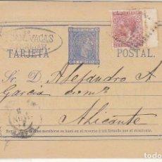 Sellos: E.P.: 0 8 . ALFONSO XII. ANDUJAR A ALICANTE.1878.. Lote 191457738
