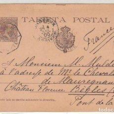 Sellos: E.P.: 0 36. ALFONSO XIII. SAN SEBASTIAN A BEGLES-GIRONDE 1900. Lote 191585132