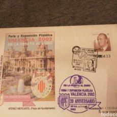 Sellos: SOBRE ENTERO POSTAL VALENCIA 2002 MATASELLADO. Lote 191657638