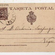 Sellos: ENTERO POSTAL 10 CÉNTIMOS. COLOR MARRÓN. CIRCULADA EN MARZO DE 1904.. Lote 191773181