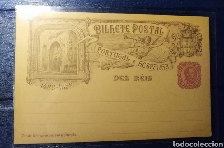 ESPAÑA, PORTUGAL, ENTERO POSTAL DE 10 REIS 1898 (Sellos - España - Entero Postales)