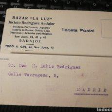 Selos: BAZAR LA LUZ. BADAJOZ 1935.. Lote 195136886