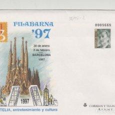 Timbres: SOBRES ENTEROS POSTALES ESPAÑA 1997 ED Nº 38 - FILABARNA 97 -- SOBRE ENTERO . Lote 195500155