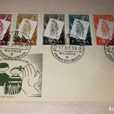 Francobolli: ENTERO POSTAL PRO-INFANCIA HUNGARA PRIMER DIA EMISION, MADRID,AÑO 1956. Lote 195533806