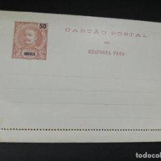 Selos: TARJETA ENTERO POSTAL. ANGOLA. 50 REIS.. Lote 195696106