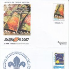 Sellos: SOBRES ENTERO POSTALES 2007 BARNAFIL 2007 NUMS. 114 - 115. Lote 239657805