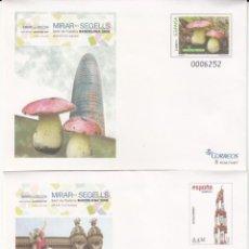 Sellos: SOBRES ENTERO POSTALES 2008 BARCELONA 2008 - SETAS Y CASTELLERS NUMS. 123-124. Lote 283159103