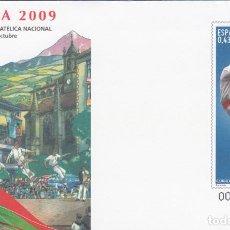 Timbres: SOBRE ENTERO POSTAL 2009 EXFILNA 2009 IRÚN - EL AURRESKU NUM. 127. Lote 200001658