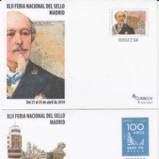 Sellos: SOBRES ENTERO POSTALES 2010 FERIA NACIONAL DEL SELLO NUMS. 129-130. Lote 234486635