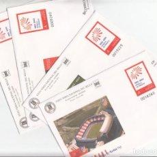 Sellos: 4 SOBRES ENTERO POSTALES FERIA NACIONAL DEL SELLO - CLUB ATLÉTICO DE MADRID NUM.86. Lote 200015338