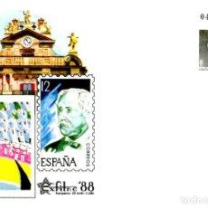 Francobolli: SOBRE ENTERO POSTAL EXPOSICION EXFILNA 88.PAMPLONA 1988.NUEVO. EDIFIL 10B. Lote 201958578