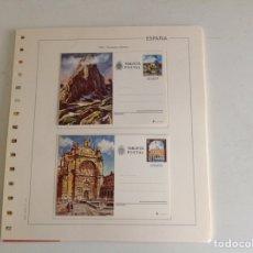 Sellos: 1979 ESPAÑA ENTERO POSTALES NUEVO. EDIFIL 119/120 INCLUYE HOJA. Lote 202545035