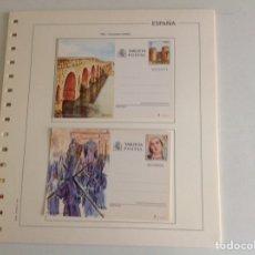 Sellos: 1984 ESPAÑA ENTERO POSTALES NUEVO EDIFIL 137/138 INCLUYE HOJA. Lote 202546961